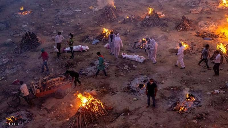 الهند : أكثر من 379 ألف إصابة جديدة بكورونا في يوم واحد